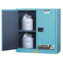 """Justrite - 8904022 - 17"""" x 17"""" x 22"""" ChemCor® Thermoplastic Lined Steel Corrosive Safety Cabinet, Blue"""