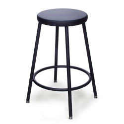 Biofit - Aj24-06 - Stool Lab Steel Black 24in (each)