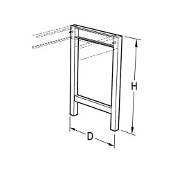 Vwr - Cfa-1229-00-each - Vwr Leg Assembly Au 22x30 (each)