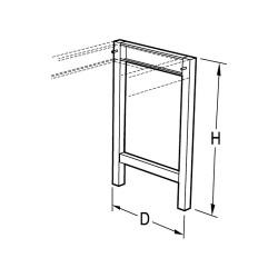 Vwr - Cfa-1289-00-each - Vwr Leg Assembly Au 28x30 (each)
