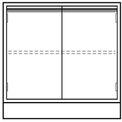 Vwr - Cfc-2036-12-each - Vwr Base Unit 2 Door 36x22x36 (each)