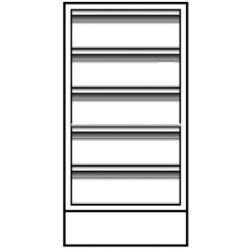 Vwr - Cfd-2504-10-each - Vwr Base Unit 5 Dwr 24x22x36 (each)