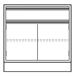 VWR - CFE-2408-12-EACH - VWR Contour Standing Height Base Cabinets, Double Door Cupboard and Drawer (Each)