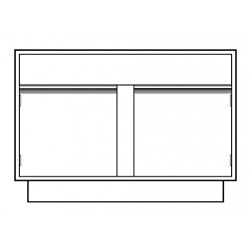VWR - CFG-2049-F22-EACH - VWR Contour Standing Height Sink Cabinets, Removable Back (Each)