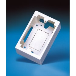 Ortronics - 40300061 - Ortronics 40300061 Device Box, Surface Mount, 1-Gang, Low Profile, 1.5 D, Fog White