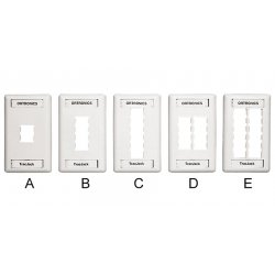 Ortronics - 40300545-88 - Fp, Trac Jack, 6hole, Sg, Pc,