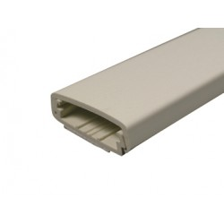 Wiremold / Legrand - 2300BAC - Wiremold 2300BAC Raceway Base & Cover, Non-Metallic, Ivory, 2-1/4 x 5'