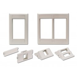 Hubbell - IMF1TI - iStation Modular Plate Frame, Single Gang, Telco Ivory