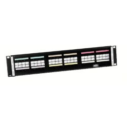 Hubbell - 110RM24 - 110 Rack Mount Kit, Category 5e, 200 Pair, 4 Pair Blocks with Cable Management