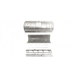 Preformed Line Products - 8006781 - Armadillo Stainless Shell Kit 9.5' X 45' Standard