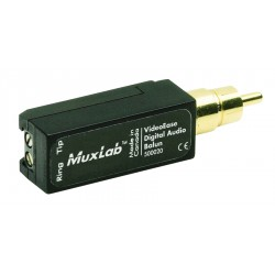 MuxLab - 500020 - MuxLab Digital Audio Balun - 25 MHz - 1 MHz to 25 MHz