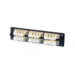 Ortronics - OR-OFP-SCD12AC - Ortronics OR-OFP-SCD12AC Adapter Plate, 6-SC Duplex, 12 Fibers, Singlemode, Ceramic Sleeve