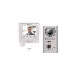 Aiphone - JFS2AEDV - Aiphone JFS-2AEDV JF-2MED series Intercom Boxed Set consisting of JF-2MED Master Station, JF-DV Fixed Video Door Station, zinc die cast, surface mount. Power Supply ( 11170 )