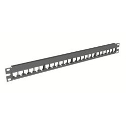 Belden / CDT - AX103115 - KeyConnect Modular Blank Keystone Patch Panel - 48-Port x 2RU - Black (Empty)