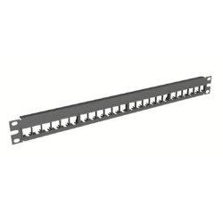 Belden / CDT - AX103115 - KeyConnect Modular Blank Keystone Patch Panel - 48-Port x 2RU - Black (Empty)