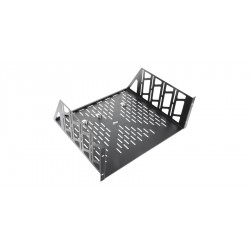 Middle Atlantic Products - MW-CLVRD-42 - Middle Atlantic Products Fully Vented Split Rear Door - Steel - Black - 42U Rack Height