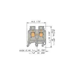 ABB - 0115 118.11 - ABB Entrelec 0115 118.11 Terminal Block, Feed Through, 6mm, Gray
