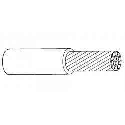 Alphawire - 296 Sv001 - (priced Per Thousand Feet) 18 Awg Solid Tin Plated Copper Wire Mil-w-3861 Type S Qq-w-343 Type S Rohs