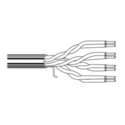 Belden / CDT - 1583A009U1000 - Belden 1583A Multi-Conductor - Category 5e Nonbonded-Pair Cable - Category 5e for Network Device - 1000 ft - 1 Pack - Bare Wire - Bare Wire - White