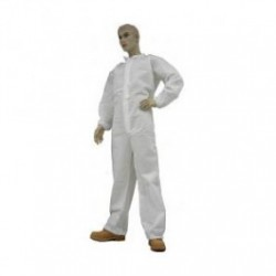 Tians - 210882 - EPIC Polypropylene Coveralls, White, Collar, Elastic Wrists and Ankles