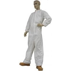Tians - 212871-XL - EPIC Lightweight PE Coated Coveralls with Elastic Wrists and Ankles
