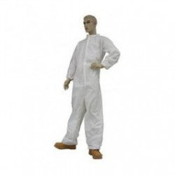 Tians - 216850 - EPIC Microporous Film Coated Polypropylene Coveralls with Folded Collar, White