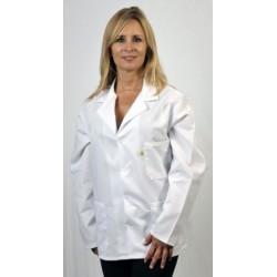 Tech Wear - 361ACQSSL - ESD Lab Coat, Jacket, Hip Length, NyloStat, White, Large