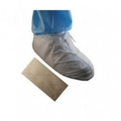 Tians - 51658 - Epic 51658 Shoe Cover, White Mp W/pvc Sole, 7 Tall, Universal 100/case