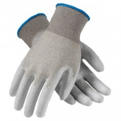 Protective Industrial Products (PIP) - 40-6415 - CleanTeam Seamless Knit Nylon / Copper Fiber Electrostatic Dissipative (ESD) Glove with Polyurethane Coated Smooth Grip