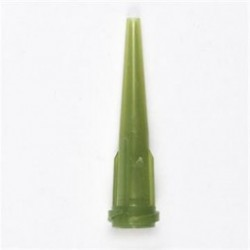 JA Crawford - 7018049 - Tapered Dispensing Tip, SmoothFlow, Opaque Olive, 14 gauge, Rigid Polyethylene