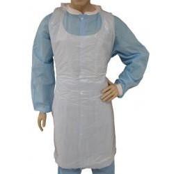 Tians - 712862846 - Tians 71286-2846 Lightweight Polyethylene Apron White 28x 46 100 Co