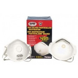 SAS Safety - 8611 - N95 Particulate Respirator with Exhalation Valve