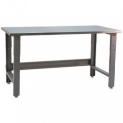 American Cleanstat - ACS24R48N - Stainless Steel Top, Grade 304, Workbench, 24'D x 48'W x 30 - 36' 1, 000 Lb