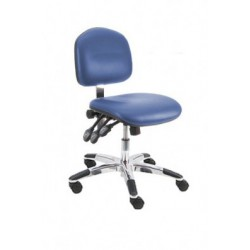 American Cleanstat - ACSDCR-LS - Deluxe Cleanroom ESD Chair, Desk Height, Class 100