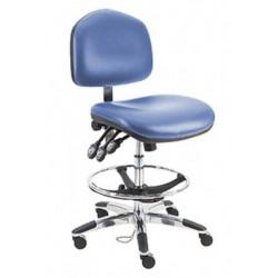 American Cleanstat - ACSDCR-WT - Premium Cleanroom ESD Chair, Tall, Class 100