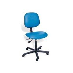 BioFit - BEN1924R653 - BEN Series Chair, Biofit, Adjustable Range 19' - 24', Nylon Base, Vinyl Upholstery, Blue Jay Color