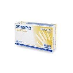 Adenna - BRZ-XS - Bronze Latex Powder Free Examination Gloves, X-Small