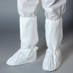 Alpha ProTech - BTA13 - Critical Cover UltraGrip Boot Covers, White, Serged Seams, Ankle Ties, (Medium, XL, Universal)