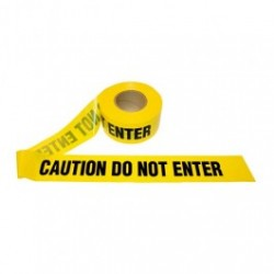 Cordova - CORT20102 - CAUTION DO NOT ENTER - Barricade Tape, 2.0 Mil, Yellow, 3' x 1000' Roll