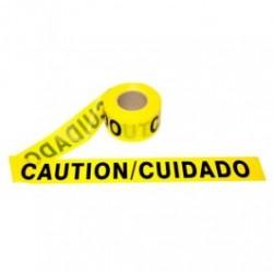 Cordova - CORT20103 - CAUTION / CUIDADO - Barricade Tape, 2.0 Mil, Yellow, 3' x 1000' Roll