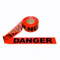 Cordova - CORT20211 - DANGER - Barricade Tape, 2.0 Mil, Red, 3' x 1000' Roll