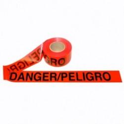 Cordova - CORT20213 - DANGER / PELIGRO - Barricade Tape, 2.0 Mil, Red, 3' x 1000' Roll