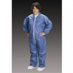 Alpha ProTech - CV84032 - Critical Cover AlphaGuard Coveralls, Elastic Wrists and Ankles, Serged Seams, Blue, Sizes Small thru 5X-Large