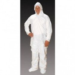 Alpha ProTech - CVJ4C92 - Critical Cover ComforTech Coveralls, Elastic Hood, Wrist and Ankle, AquaTrak Boots, Serged Seams, White, Sizes Medium thru 5X-Large