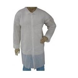 The Safety Zone - DLWHNP-2XL - Polypro Labcoat Elastic Wrists