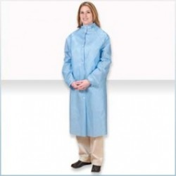 Alpha ProTech - FK31122 - Critical Cover AlphaGuard Frocks, Raglan Sleeves, Elatic Wrists, Snap Collar, Serged Seams, LIght Blue, Sizes Small thru 4X-Large