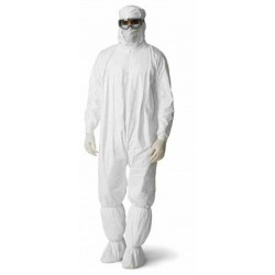 DuPont - IC105SWHCS - Dupont Tyvek IsoClean Coveralls - Series 105, Clean and Sterile, Attached Hood and Boots, White