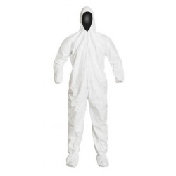 DuPont - 105SWHC - IsoClean Hooded Coverall, IC105S Series, Clean Processed