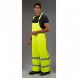 Lakeland - ABPU10LY - FR / Arc Rated Rainwear Bib Pants, 10 oz., Polyurethane over Flame Resistant Cotton Knit, Yellow