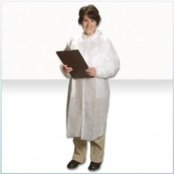 Alpha ProTech - LC12421 - Critical Cover GenPro Lab Coats, Tapered Collar, No Pockets, Elastic Wrists, Serged Seams, White, Sizes Small thru 4X-Large